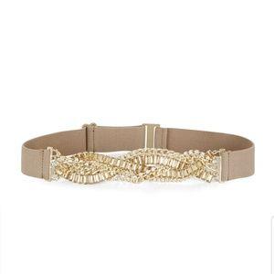 BCBGMaxazria Braided Stone Waist Belt